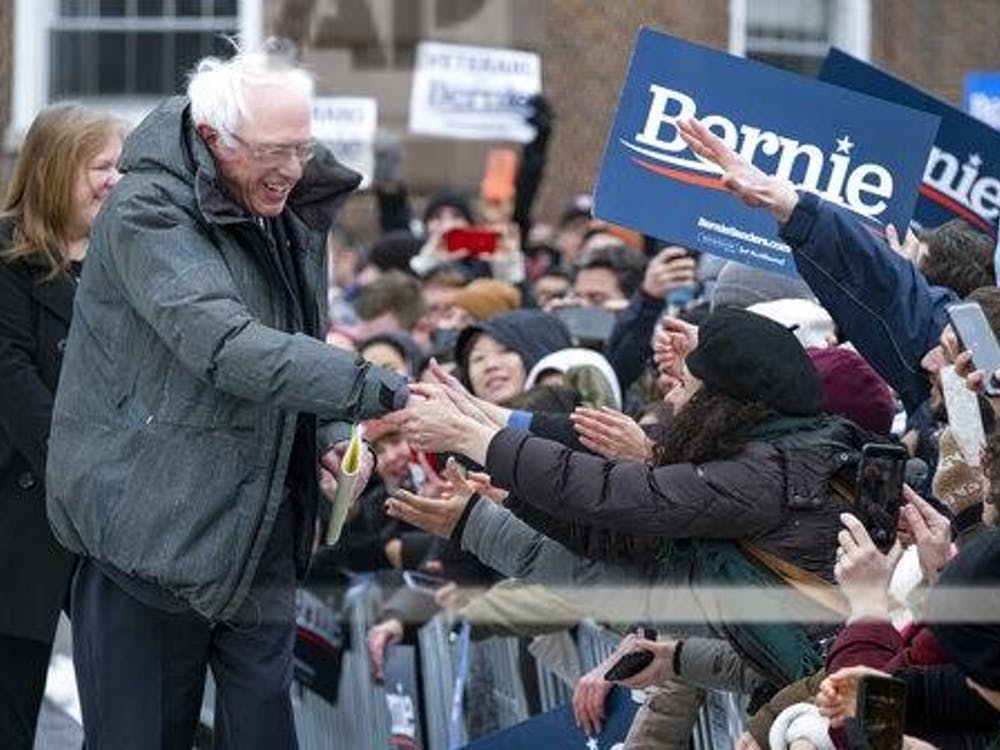 Sen. Bernie Sanders, I-Vt., is surrounded by supporters as arrives to kick off his second presidential campaign Saturday, March 2, 2019, in the Brooklyn borough of New York. (AP Photo/Craig Ruttle)