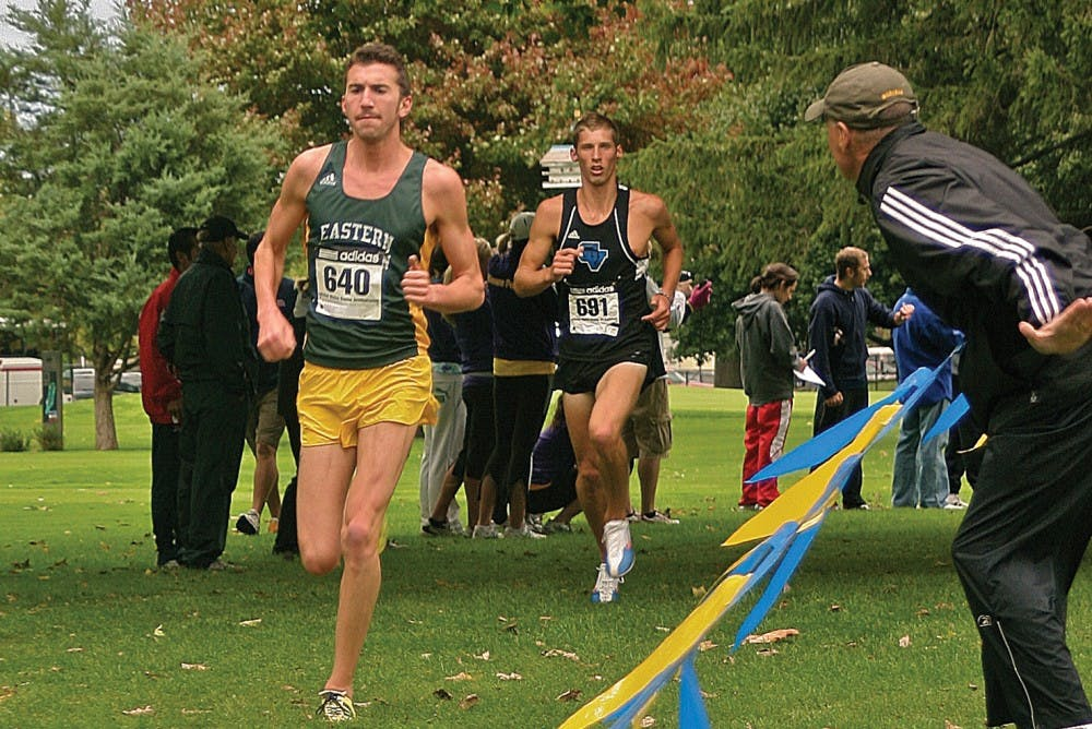 Eastern Michigan mens cross country team places ahead of pack in opening meet of season
