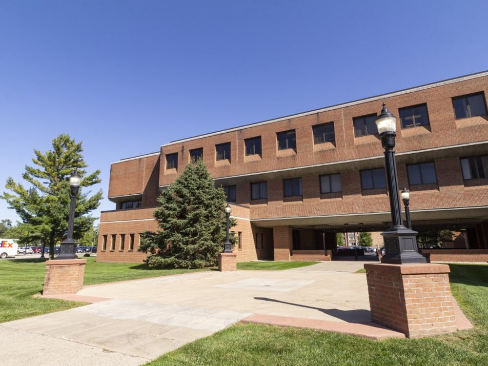 The Alexander Music Building, home to Eastern Michigan University's School of Music and Dance.