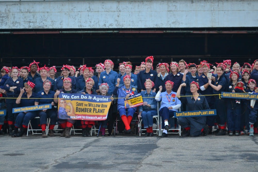 Women pay homage, raise awareness for Bomber Plant campaign