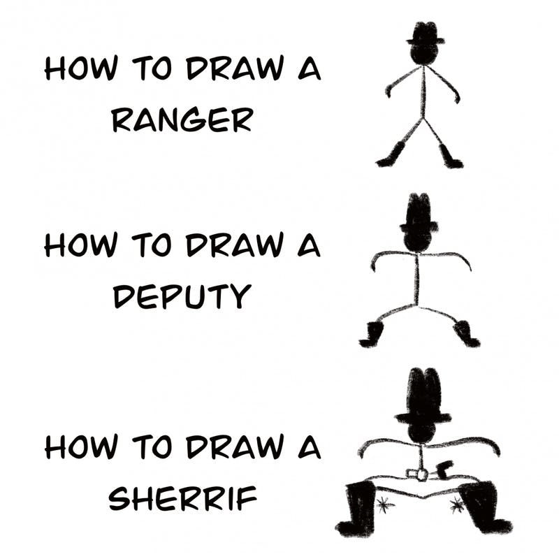 Ever wanted to draw your law-abiding western hero? Draw their fellow riders as well!