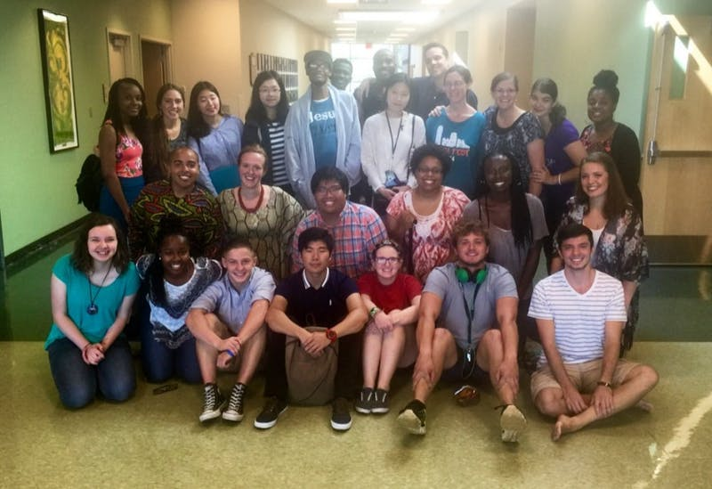 University Christian Fellowship members and church goers after service, Student Center Rm 310.