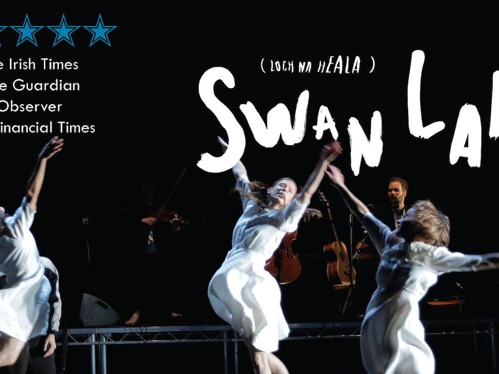 Teaċ Daṁsa's Swan Lakes (Loch na hEala) poster for performances.
