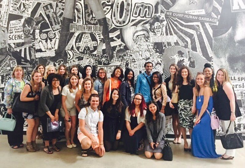 EMU's fashion students learn about the industry at the headquarters of Volcom in southern California.