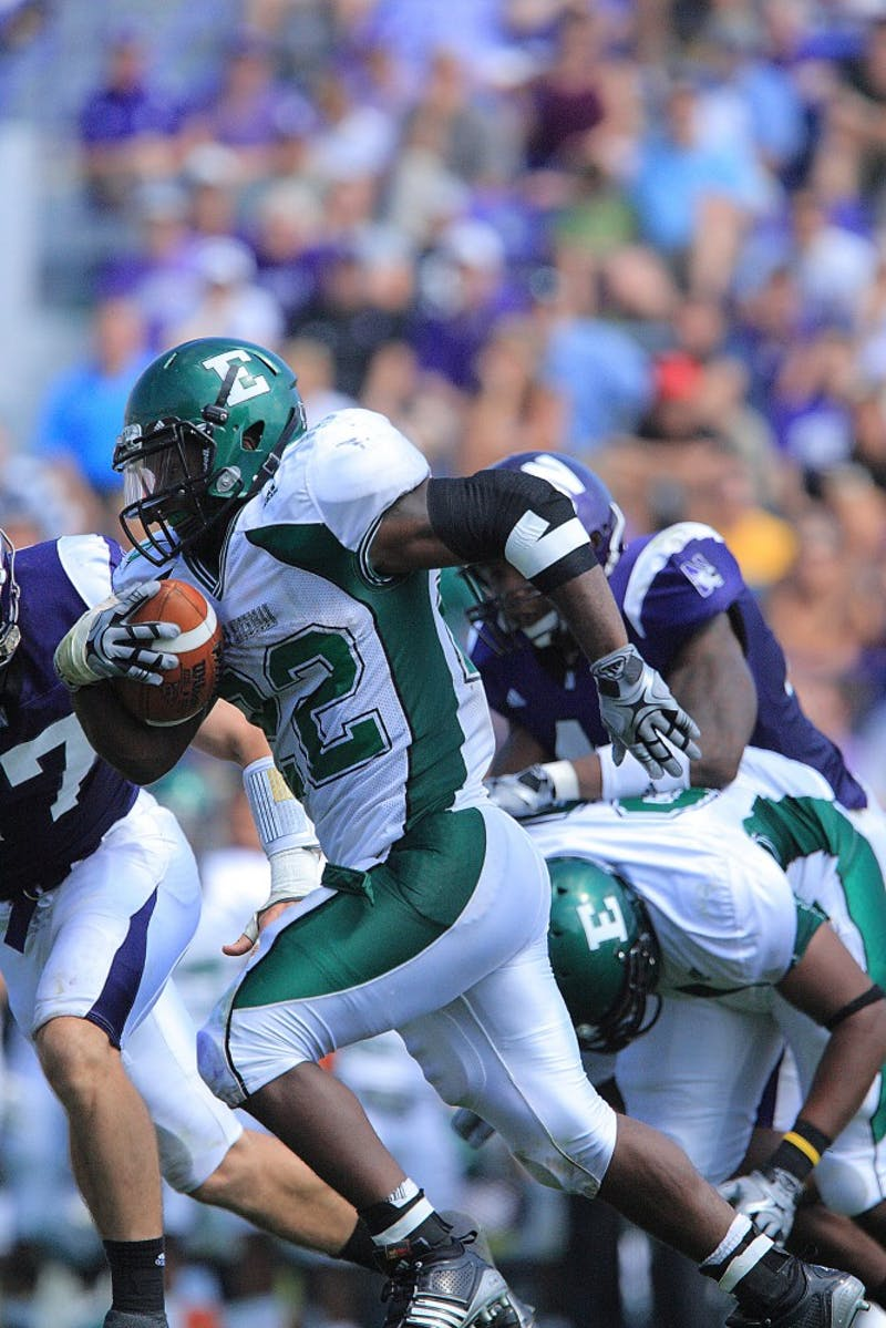 Dwayne Priest (22) had 17 carries for 127 yards and a touchdown against Northwestern in Evanston, Ill.
