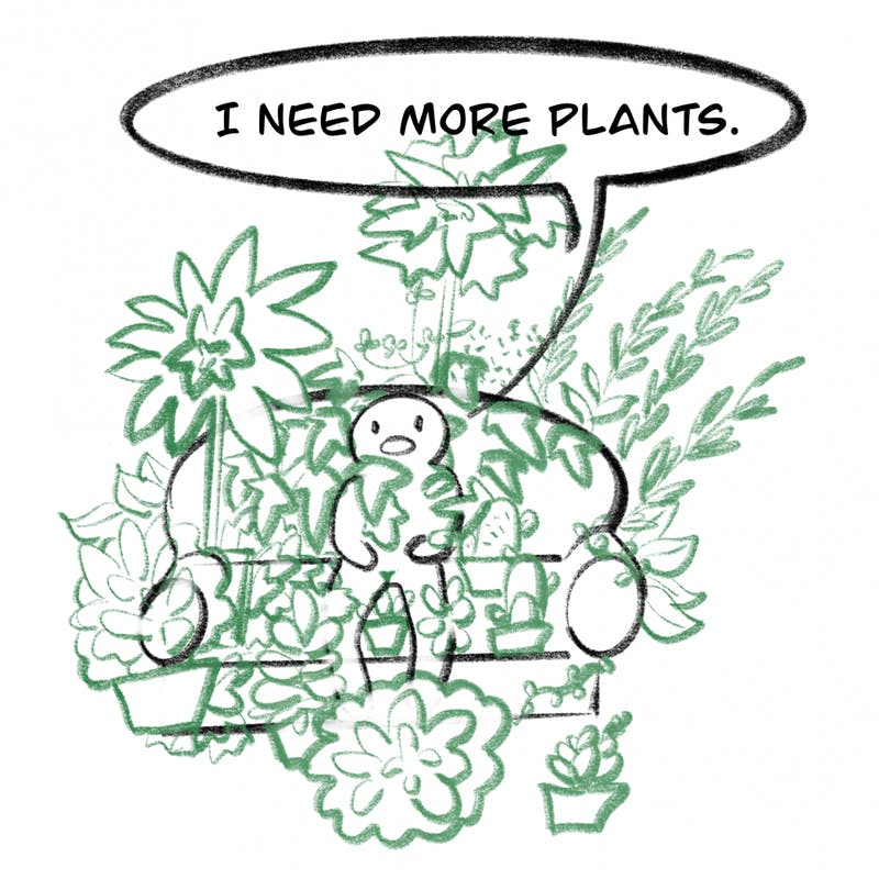 True plant lovers have more than a green thumb...they have green greed.