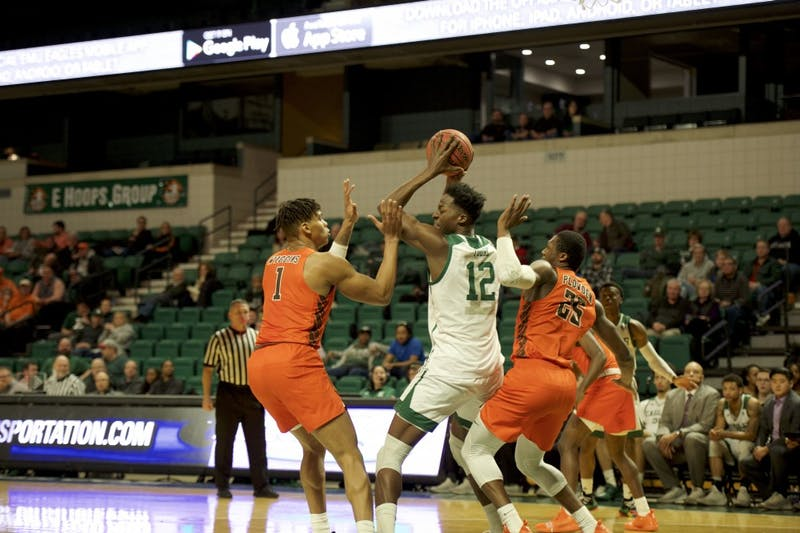 Boubacar Toure looks to a pass versus BGSU at the Convocation Center in Ypsilanti on Jan. 22.