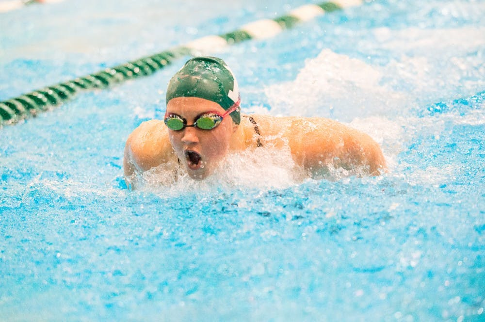 Eastern Michigan women's swim and dive team competes in the Denison Invitational