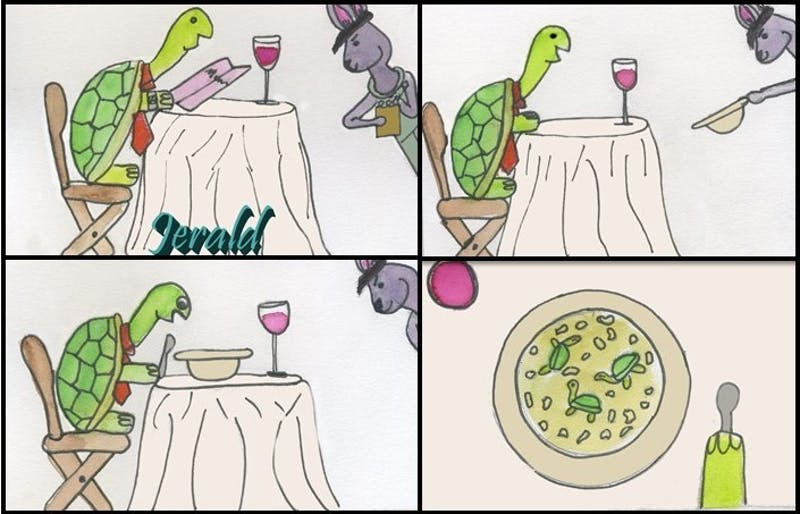 The rivalry of the tortoise and the hare is still held among the members of its species to this day, even with soup.