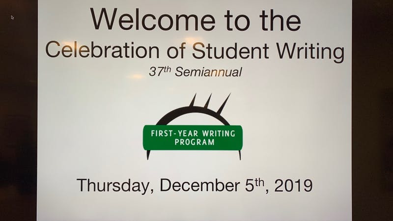 37th Semiannual Celebration of Student Writing