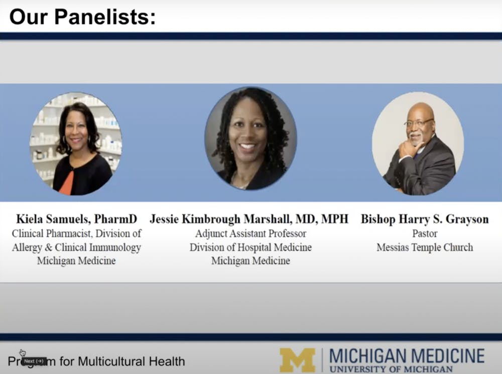 The University of Michigan's Michigan Medicine holds 'Virtual Town Hall: COVID-19 and the African American Community'