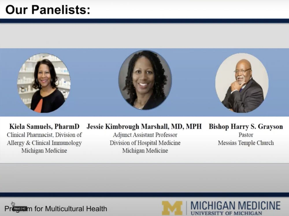 """A screenshot from the """"Virtual Town Hall: COVID-19 and the African American Community,"""" found on the Michigan Medicine YouTube channel."""