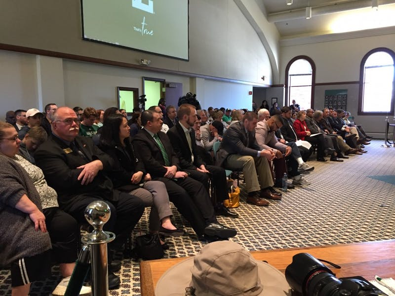 The April 20 Board of Regents meeting was packed to its 130 person capacity, many of the members of the audience being athletes who had been protesting just hours before.