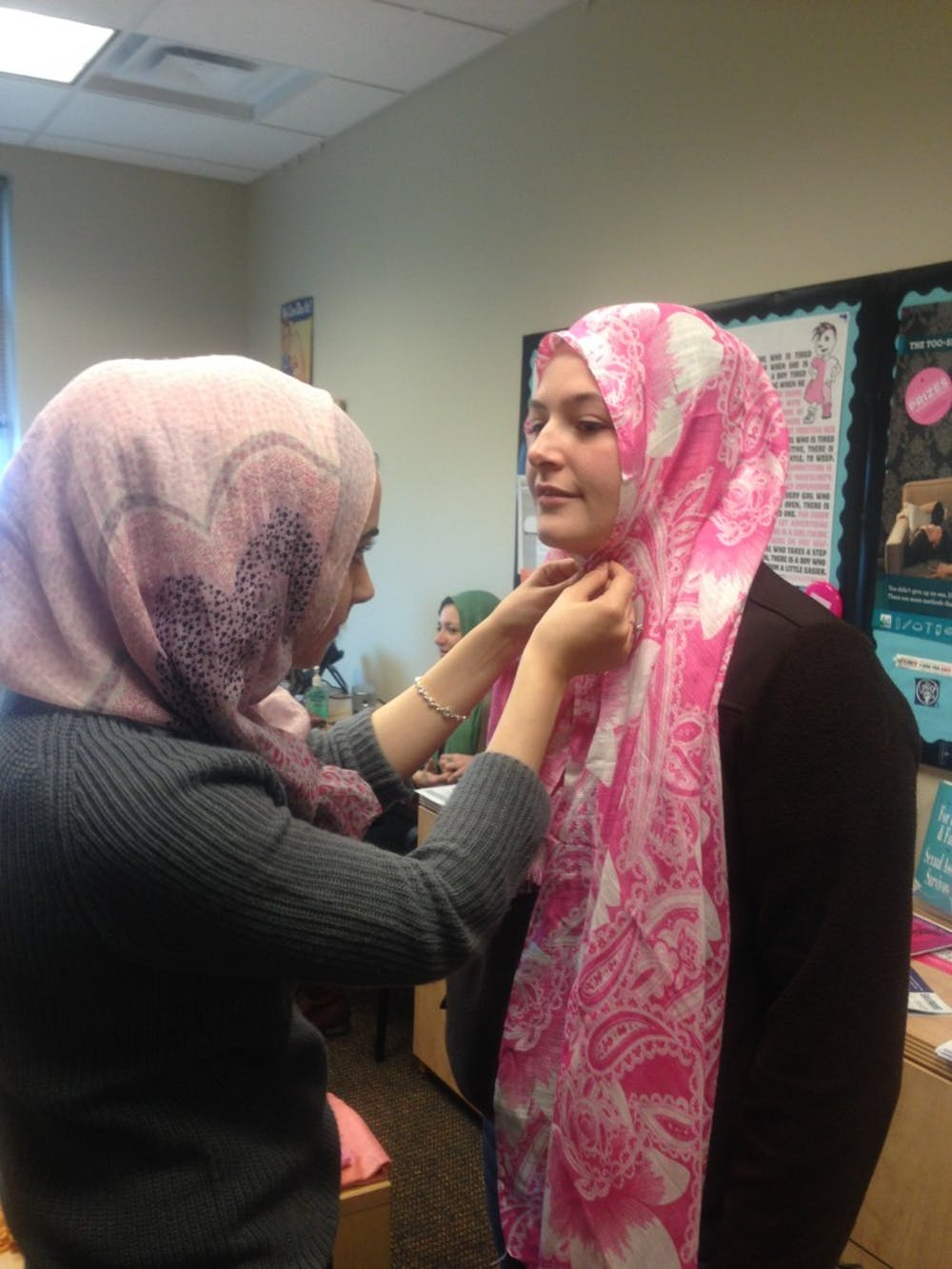 Women take part in university's Hijab Day