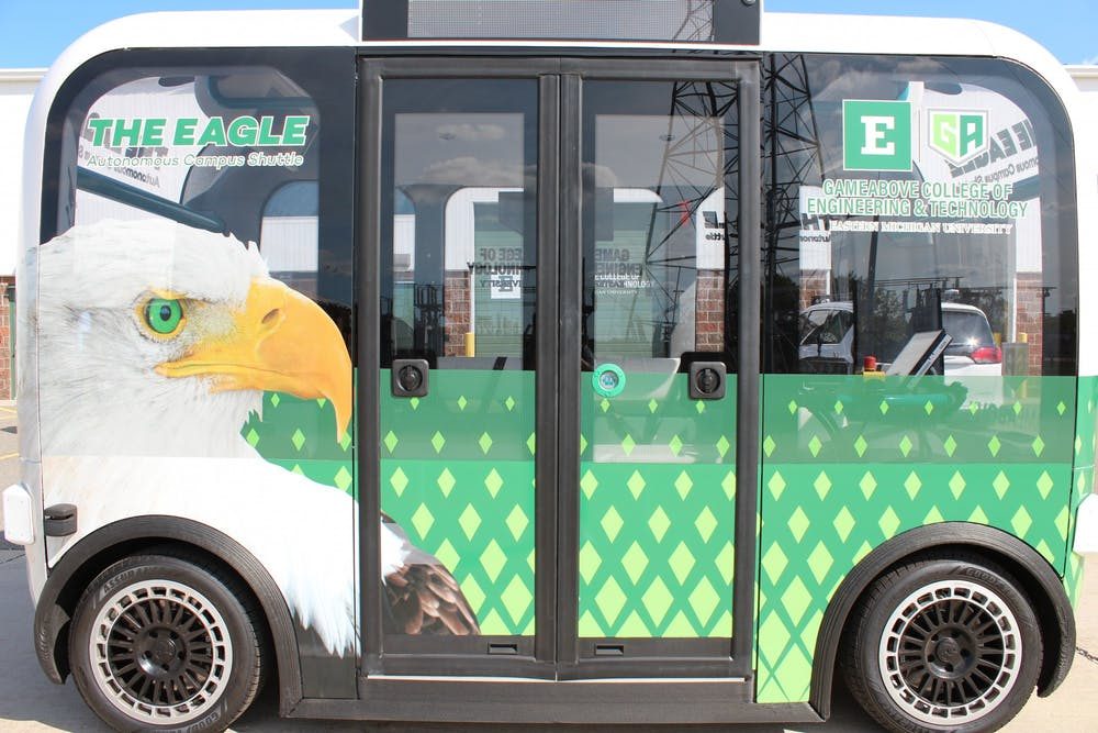 Autonomous shuttles coming to Eastern Michigan University's campus this fall
