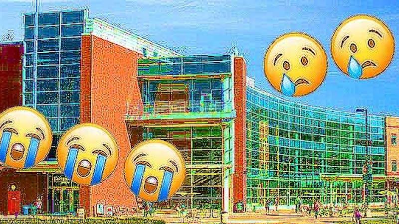 The iconic EMU Student Center.
