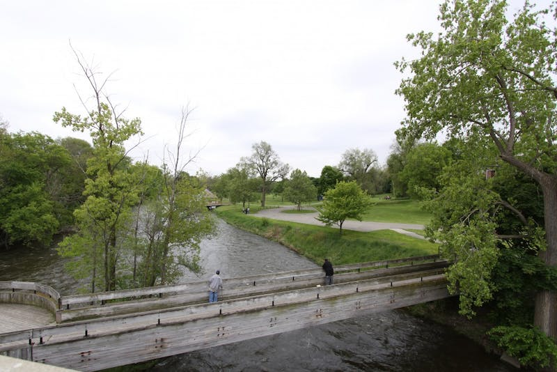 'The Tridge' connects Frog Island and Riverside parks. The parks are home to summer festivals, including ElvisFest and the 13th annual Beer Fest.