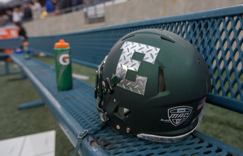 Eastern Michigan debuted new helmets on Saturday versus Akron.