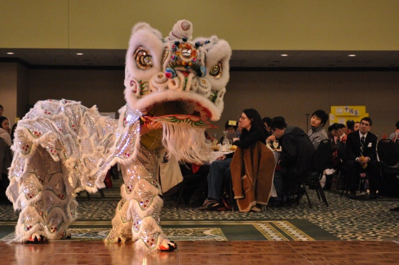 Events at EMU's first Chinese Festival Gala included traditional Chinese meals and a tradtional Chinese lion dance. For more information on Chinese Week at EMU vist http://acs-association.blogspot.com.