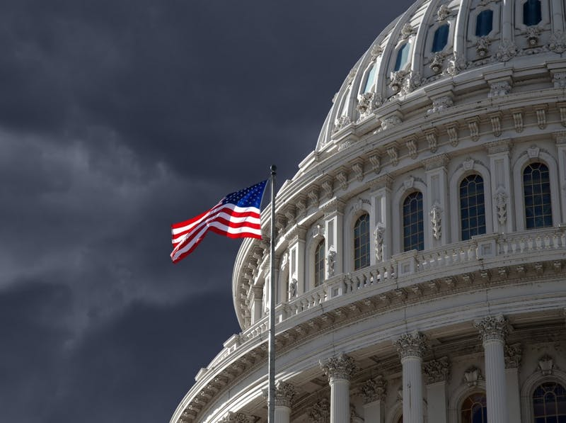 Dark Sky Over U.S. Capitol Building. Photo by trekandshoot on CanStockPhoto.