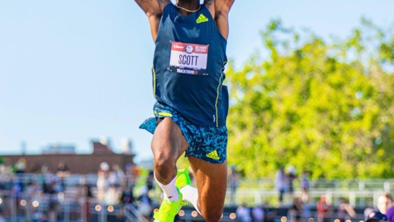 Eastern Michigan University alumni, Donald Scott, qualifies to triple jump at the 2020 Tokyo Olympics. (Photo courtesy of Donald Scott)