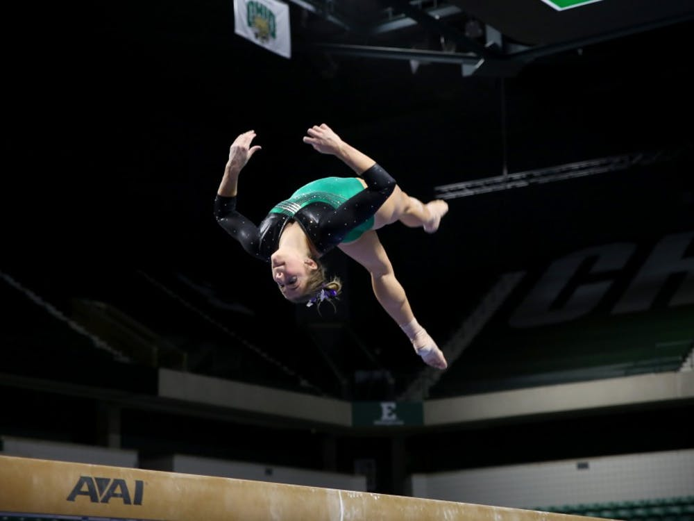 Natalie Gervais competes at the Convocation Center on Feb. 20.