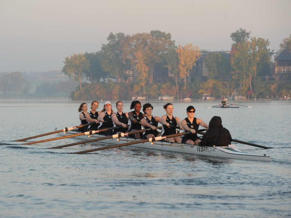 Eastern Michigan women's rowing team competes.