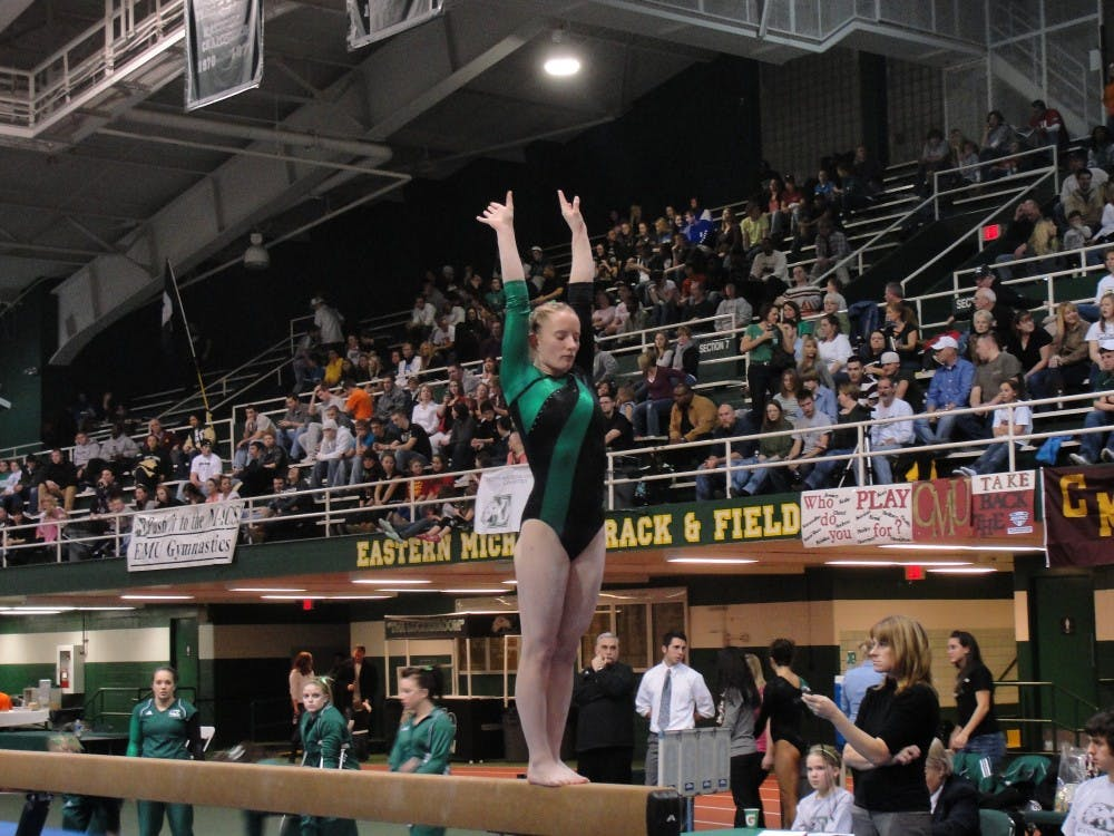 Gymnastics solid on beam in loss to CMU