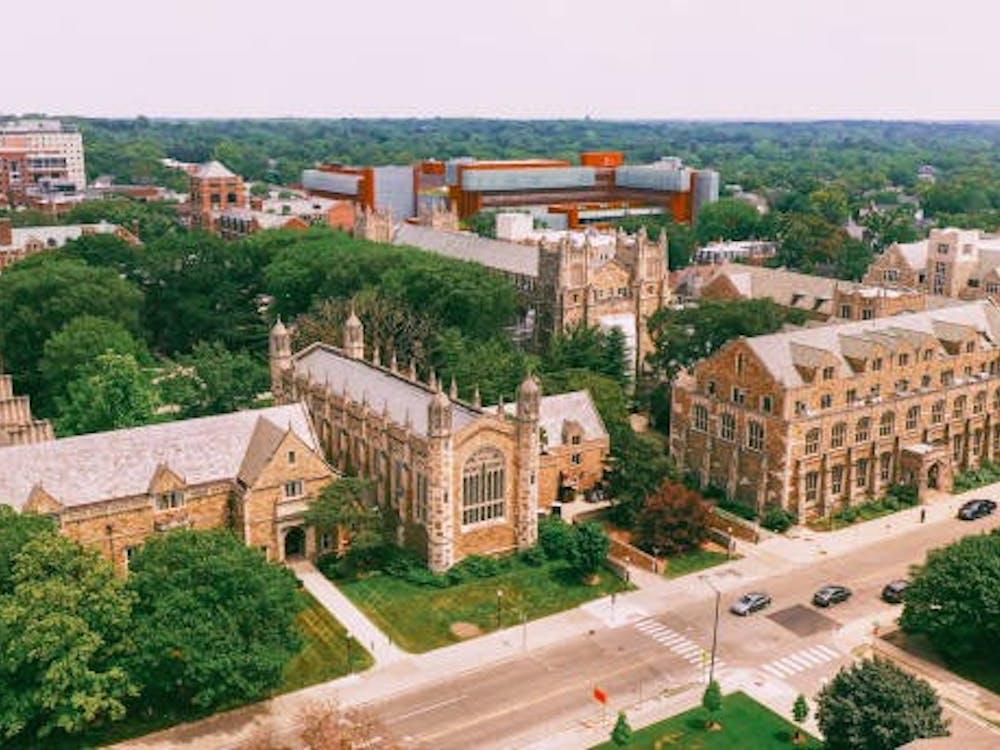Law Quadrangle University of Michigan Ann Arbor Aerial view. (Photo courtesy of istockphoto.)
