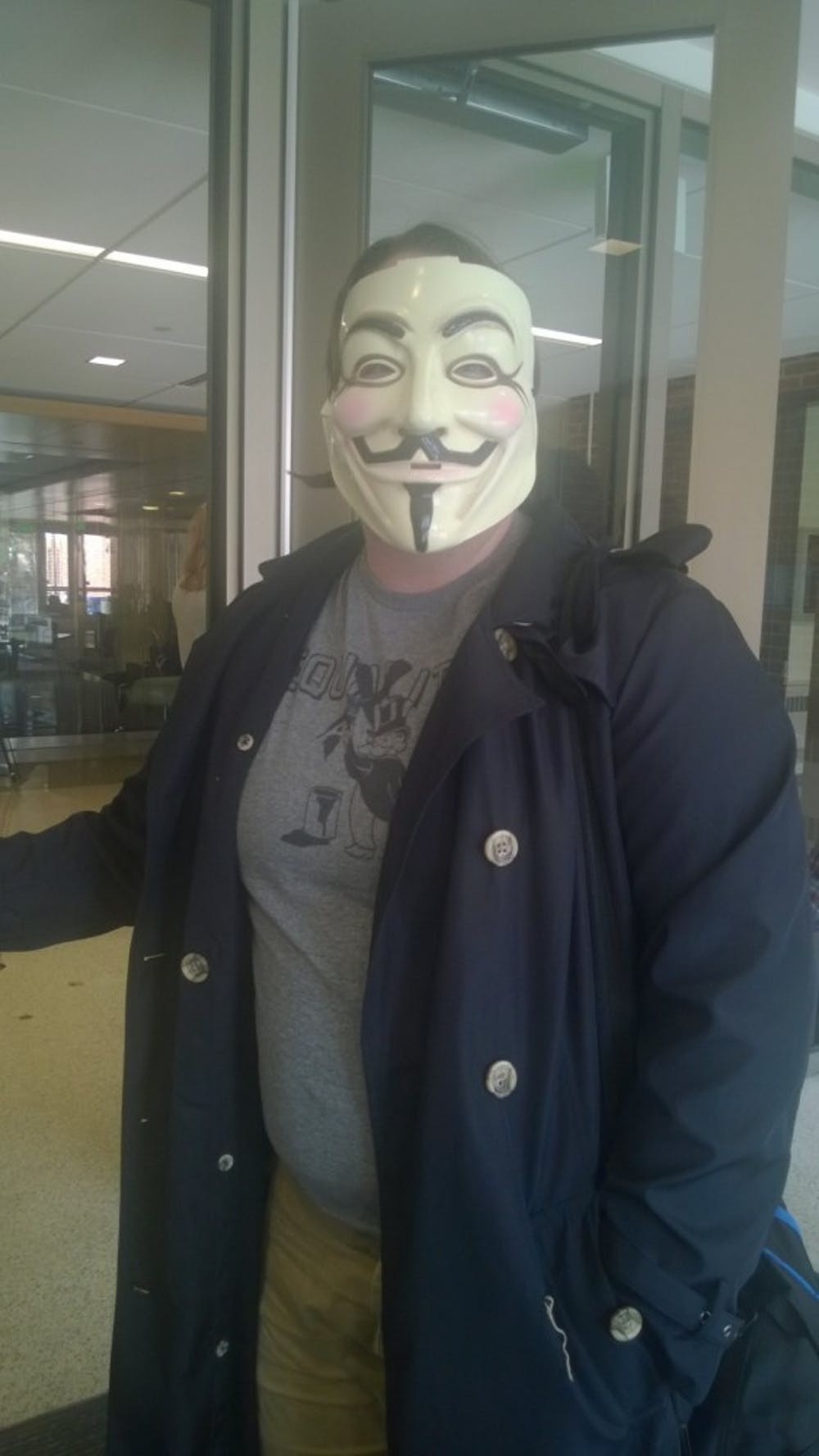 "Students pay homage to classic movie, ""V for Vendetta"""
