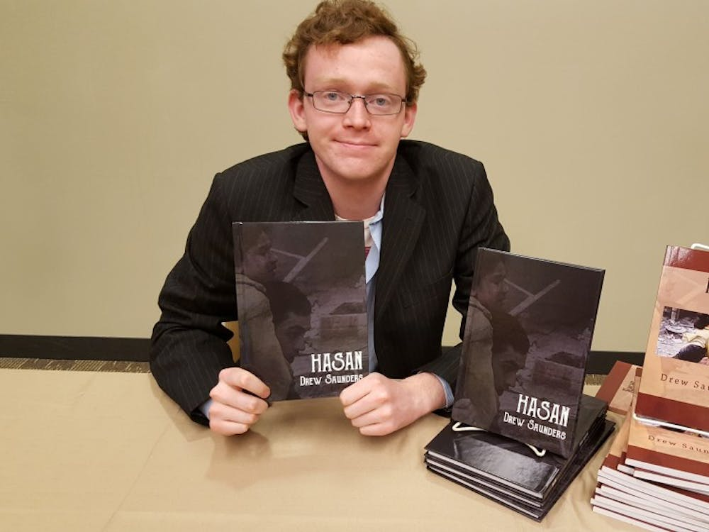 Drew Saunders held a book signing in the Student Center last Friday.
