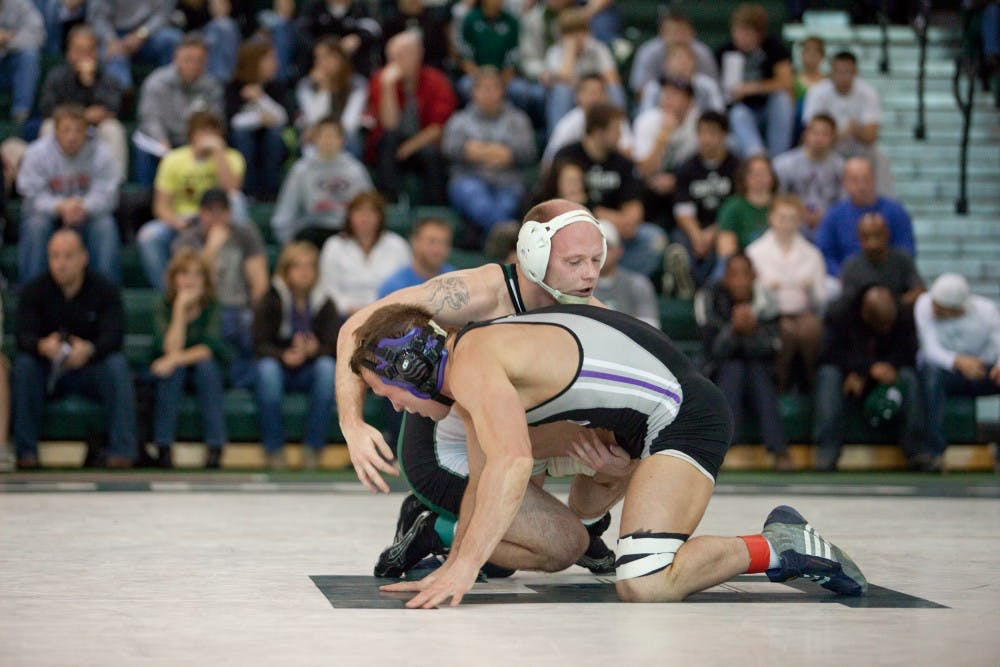 Wrestling ties Northwestern