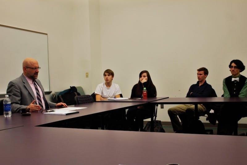 Steve Horowitz, PhD. talks to EMU students Monday.