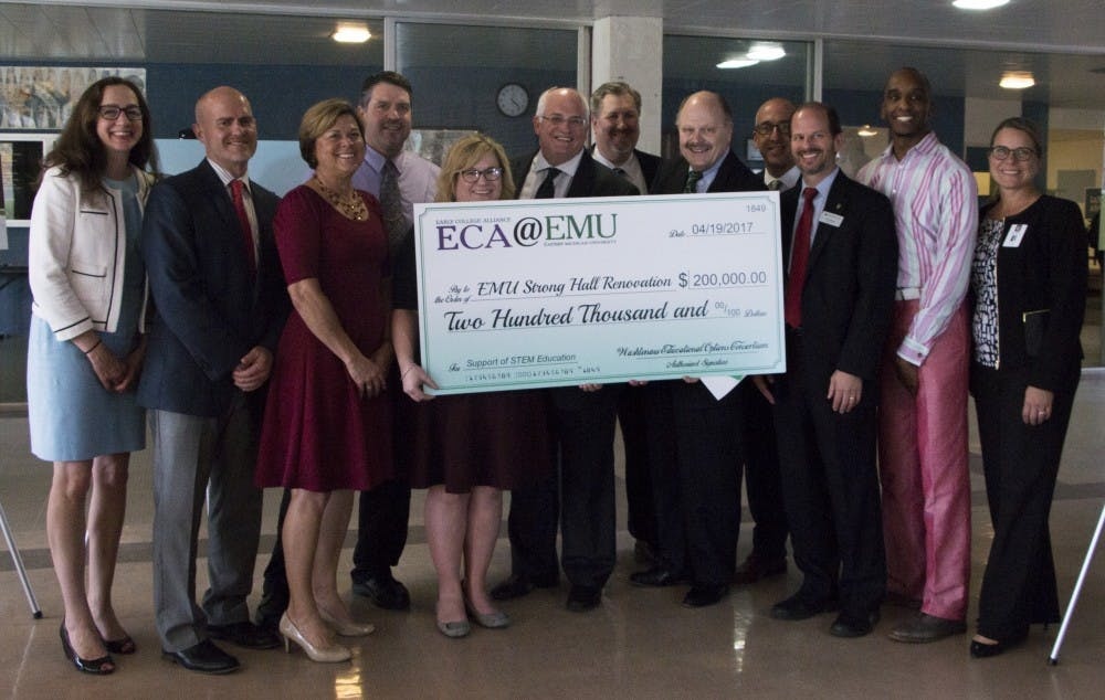 Eastern Michigan University's ECA program donates $200,000 toward Strong Hall renovations