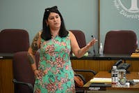 Council Member Annie Somerville hosted the first City Town Hall discussion about the social equity plan written into Proposal 1, which city voters overwhelmingly approved in 2018.