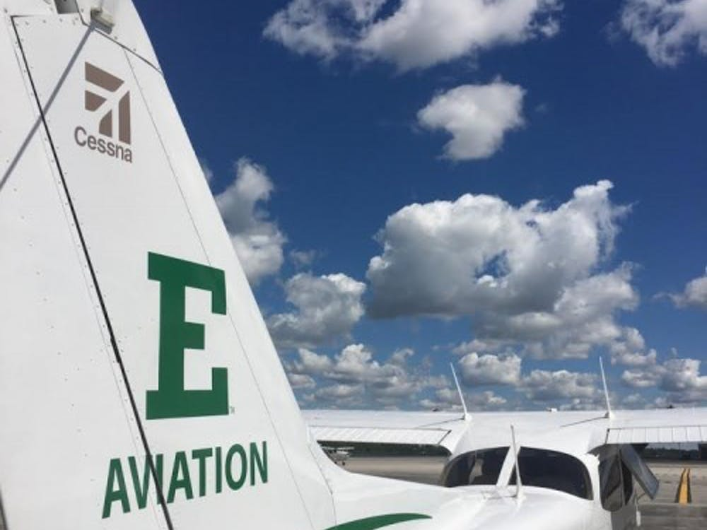 EMU aviation program plane N525322 at Willow Run Airport. Photo via EMUToday by Austen Smith.