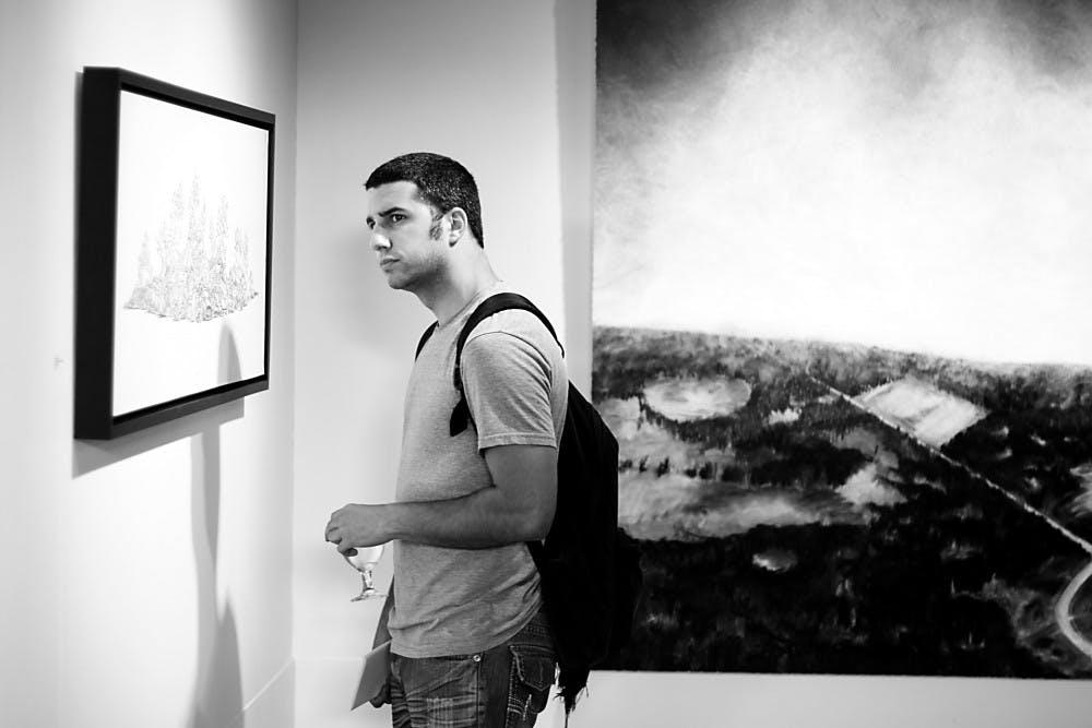 2010 Great Lakes Biennial displayed in University Gallery