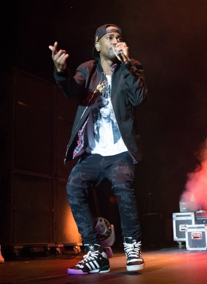 Big Sean performs Wednesday night at the Convocation Center in Ypsilanti.
