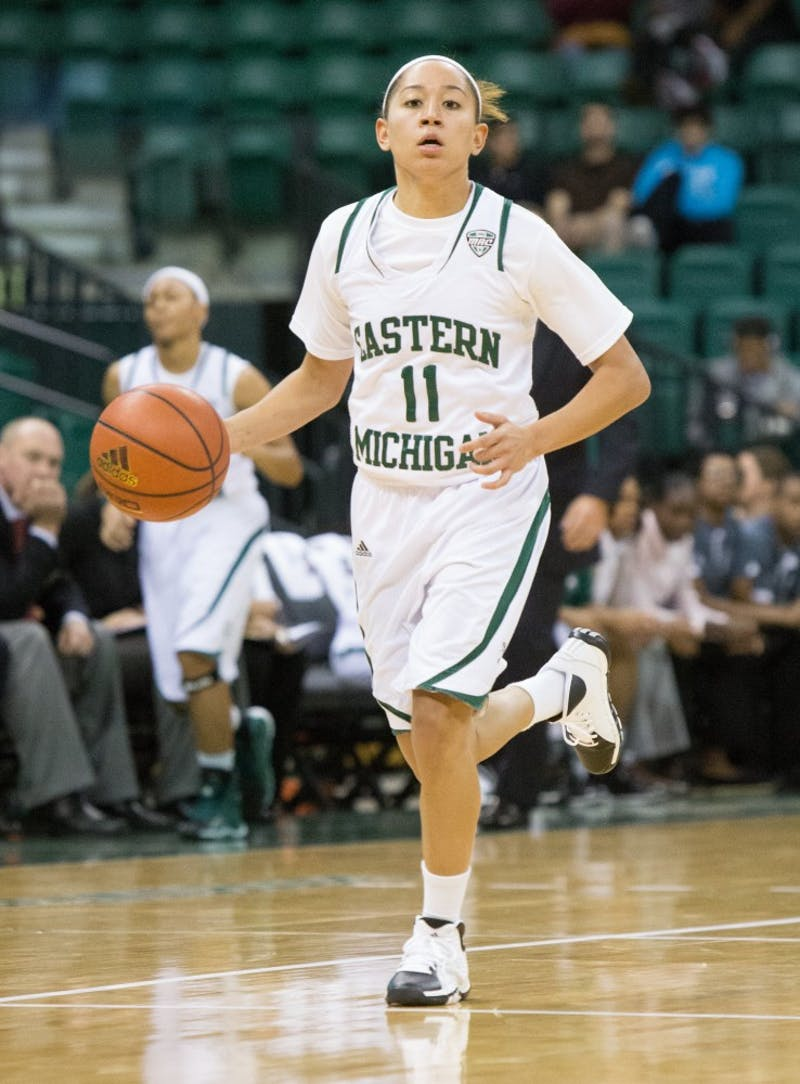 EMU guard Desyree Thomas had 8 assists in Eastern Michigan's 101-52 win over Madonna University Friday afternoon.