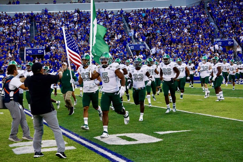 EMU enters Kroger Field on Sept. 7, 2019 in Lexington.