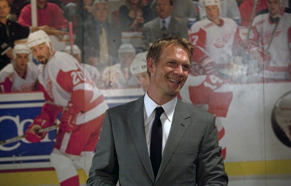Lidstrom receives standing ovation from fans