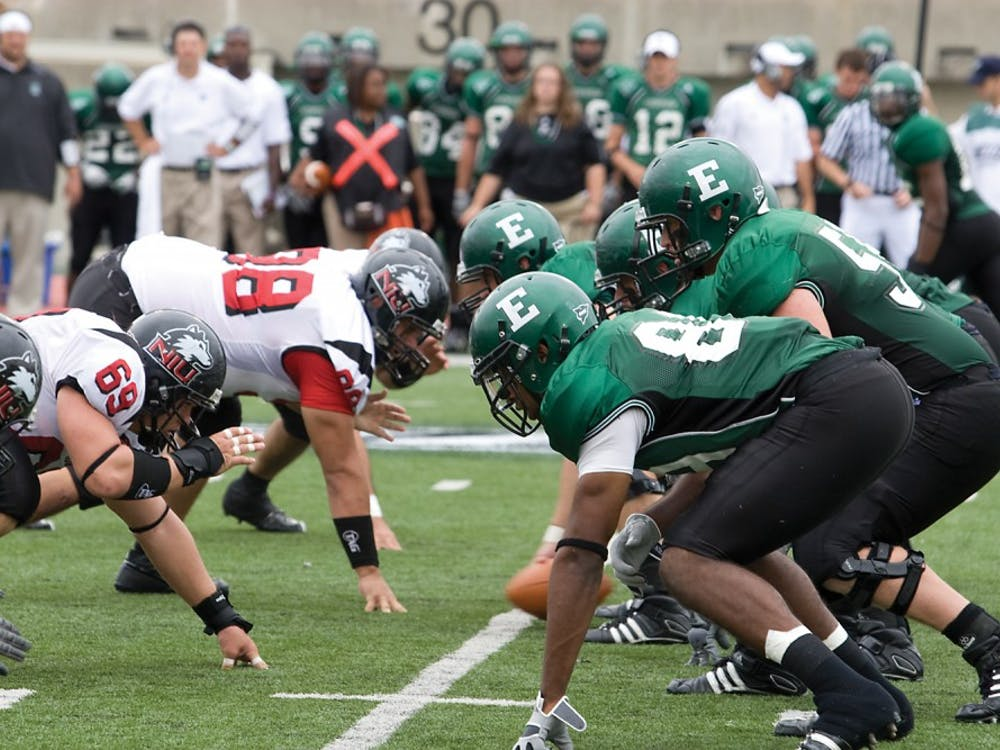 EMU and NIU line up in 2008, when NIU recorded a 37-0 win for its seventh of the past eight in the series. They play at 6:30 CDT tonight, and it will broadcast on ESPNU and WEMU 89.1 FM.