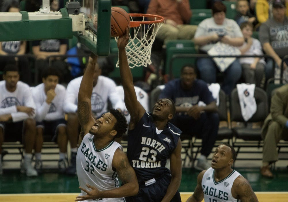 Nazione gets double-double in loss to UNF