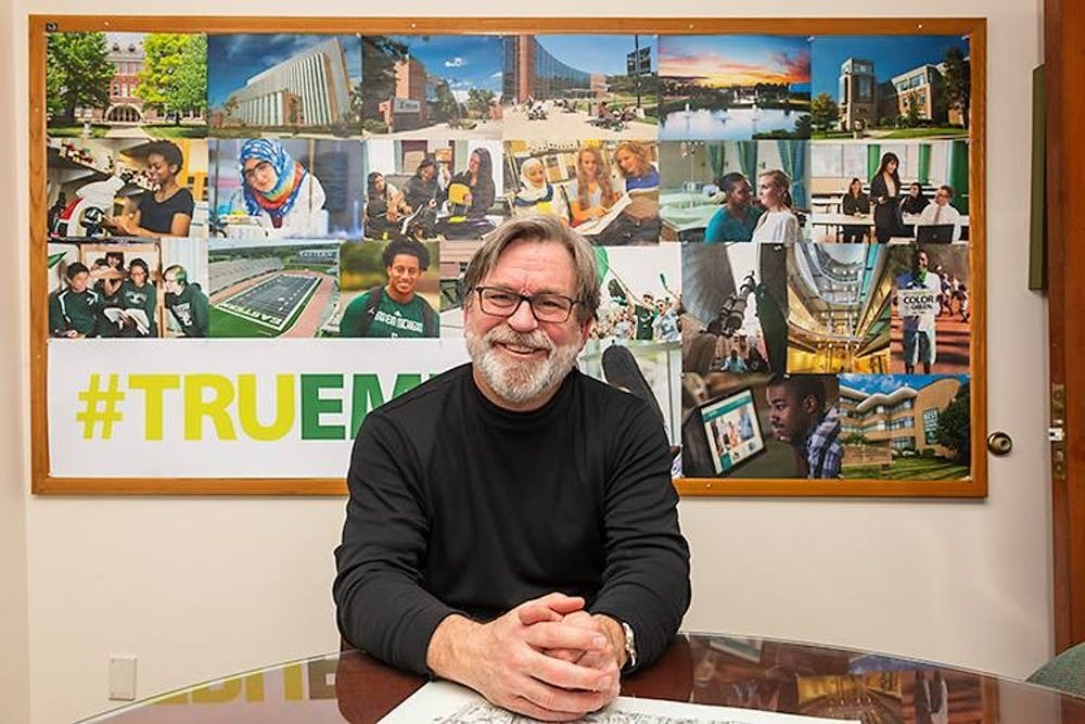 A look inside Geoff Larcom's lifelong career in journalism and media and his iconic tenure at Eastern Michigan University