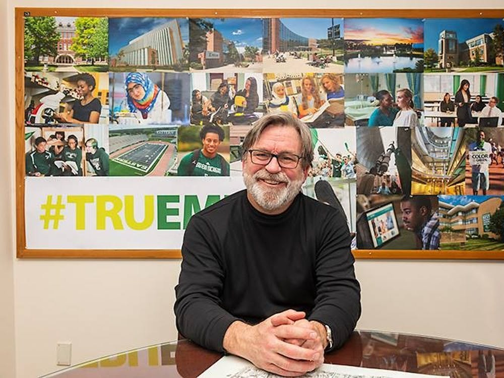 Geoff Larcom retires after 12 years at EMU and a lifelong career in journalism and media (Photo courtesy of Geoff Larcom).
