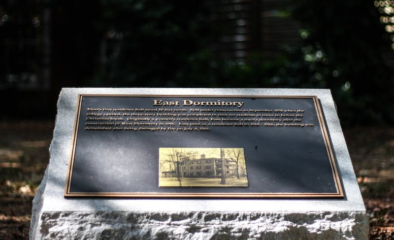 Historical markers around campus highlight Elon's past ...