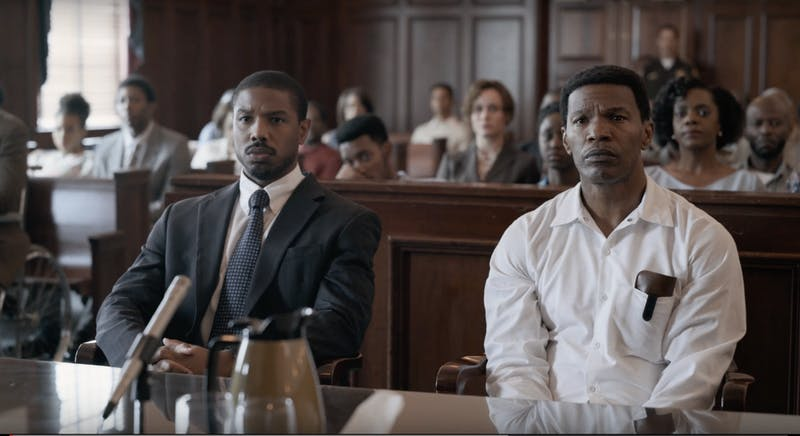 Bryan Stevenson (Michael B. Jordan) fights to save his client (Jamie Foxx) from the death penalty.