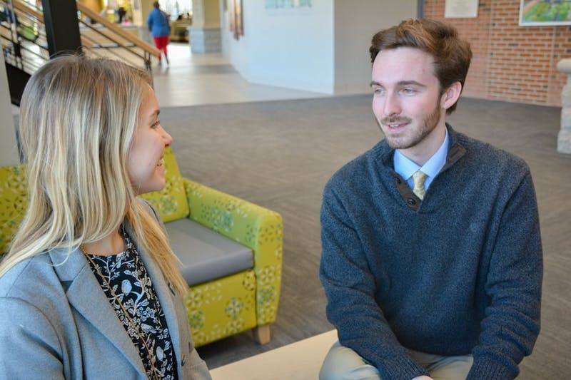 Current Student Body President Nicole Arpin and Vice President Adam Wright discuss their initiatives for the semester