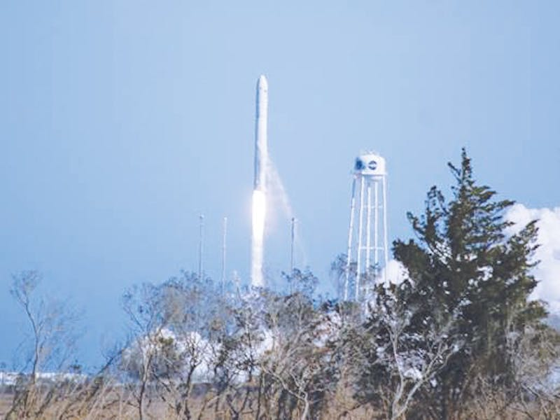 Computer science and engineering students made Taylor history with the launch of their nanosatellite. Photo provided by Bill Bauson.