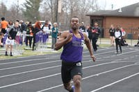 Senior Caleb Anthony broke numerous Taylor records and was a multi-time NAIA All-American. (Photograph provided by Taylor Athletics)